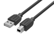 High Quality Cotton Braided USB2.0 A Male to B Male Print Cable 1M Black Metal Type